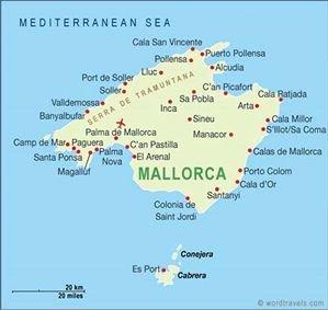 Mallorca Karte Paguera.Cala Fornells